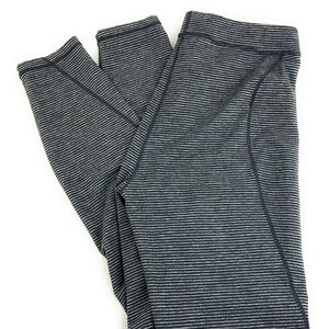 Toad & Co Striped Grandstand Grey Leggings